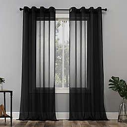 No. 918® Emily 63-Inch Grommet Window Curtain Panel in Black (Single)