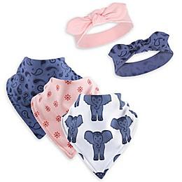 Yoga Sprout 5-Piece Free Spirit Bib and Headband Set in Pink/Blue