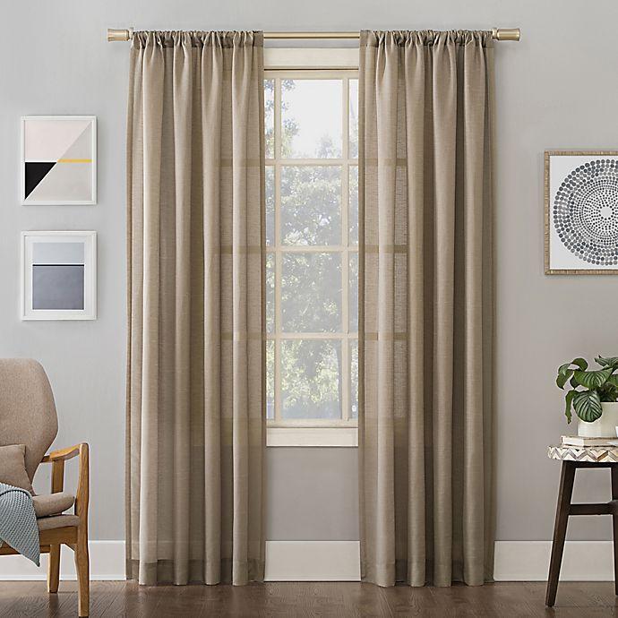 Alternate image 1 for No.918® Amalfi Linen Blend Textured Rod Pocket Curtain Panel (Single)