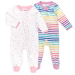 The Honest Company® Size 0-3M 2-Pack Love Dot Organic Cotton Sleep N' Plays