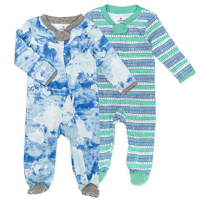 Alternate image 1 for The Honest Company® 2-Pack Watercolor World Organic Cotton Sleep & Plays