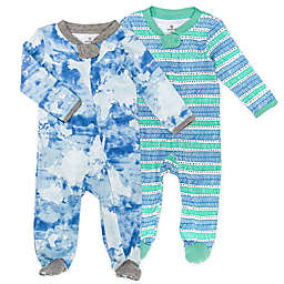 The Honest Company® 2-Pack Watercolor World Organic Cotton Sleep & Plays