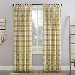 No.918® Blair Farmhouse Plaid Tab Top Curtain (Single)