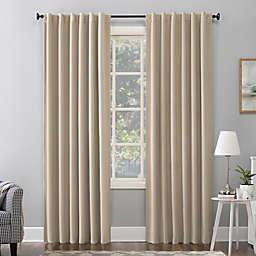 Sun Zero® Amherst Velvet 96-Inch Thermal Total Blackout Curtain Panel in Ecru (Single)
