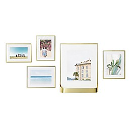 Umbra Matinee 5-Piece Picture Frame Set in Matte Brass