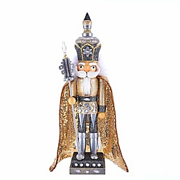 Hollywood™ Gold and Silver King 17.5-Inch Nutcracker