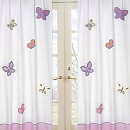 Sweet Jojo Designs® Butterfly Window Curtain Panel Pair in Pink/Purple