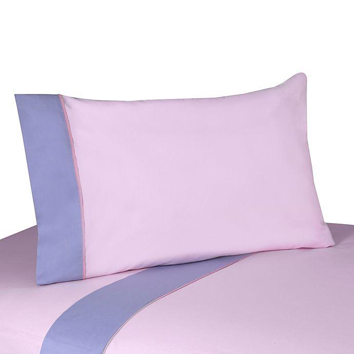 Alternate image 1 for Sweet Jojo Designs Butterfly 3-Piece Twin Sheet Set in Pink/Purple