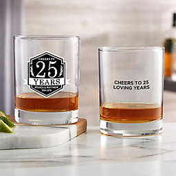 Anniversary Personalized 14 oz. Whiskey Glass