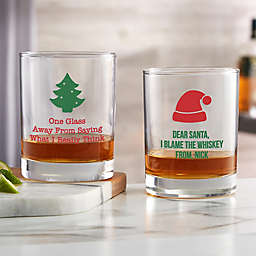 Choose Your Icon Personalized Christmas Whiskey Glass