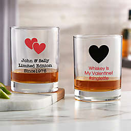 Choose Your Icon Personalized Valentine's Day Whiskey Glass