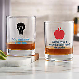 Choose Your Icon Personalized Teacher  Whiskey Glass