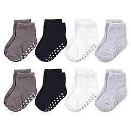 Touched By Nature® Size 4-6T 8-Pack Non-Skid Socks in Grey