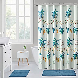 VCNY Home 72-Inch x 72-Inch Deck the Palms Shower Curtain