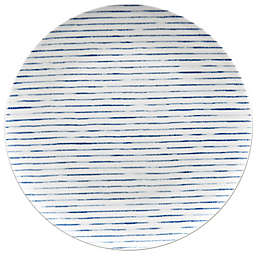 Noritake® Blue Hammock Stripe Coupe Dinner Plate