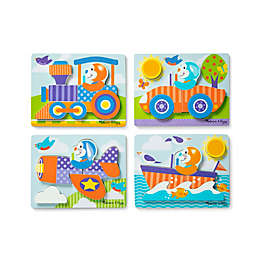 Melissa & Doug® First Play Vehicles Chunky Wooden Jigsaw Puzzles (Set of 4)
