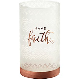 Precious Moments® Have Faith Hurricane Glass Candle Holder