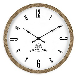 Bee & Willow 16-Inch Wood Wall Clock in Natural Brown