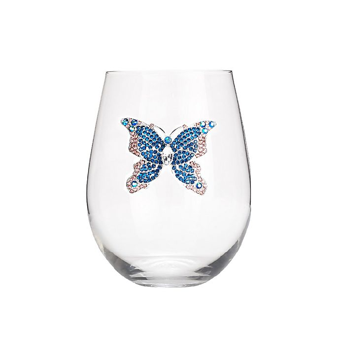 Alternate image 1 for Qualia Butterfly Stemless Wine Glasses (Set of 4)