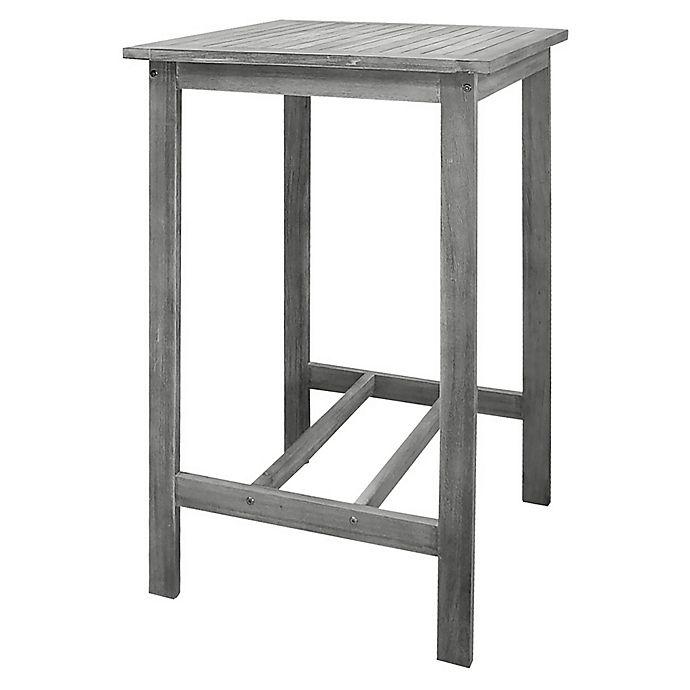 Alternate image 1 for Vifah Renaissance Hand-Scraped Patio Bar Table in Grey