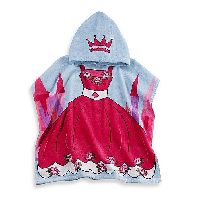 Monogrammed Princess Beach Towel: Kids Printed Princess Hooded Beach Towel In Pink/Blue