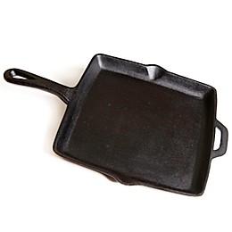 11-Inch Pre-Seasoned Square Cast Iron Skillet in Black