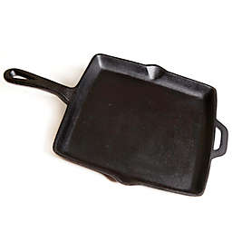 11-Inch Pre-Seasoned Square Cast Iron Skillet in Black