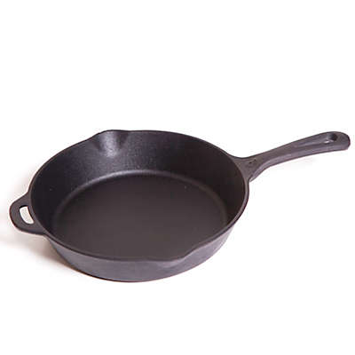 8-Inch Pre-Seasoned Round Cast Iron Skillet in Black