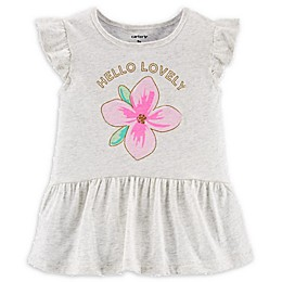 carter's® Hello Lovely Top in Grey