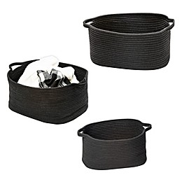 Honey-Can-Do® Cotton Coil Baskets in Black (Set of 3)