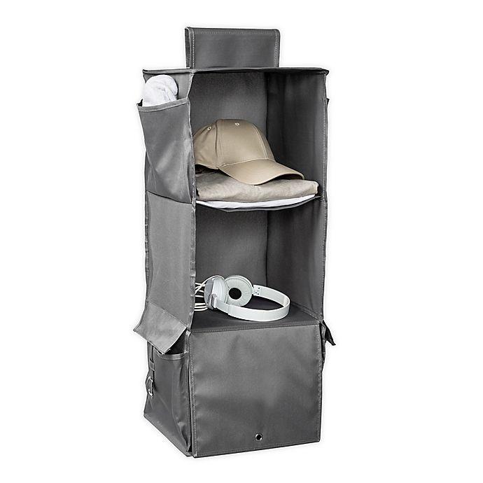 Alternate image 1 for Honey-Can-Do® 3-Shelf Hanging Closet Organizer in Grey
