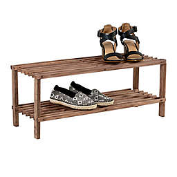 Honey-Can-Do® 2-Shelf Shoe Rack in Espresso