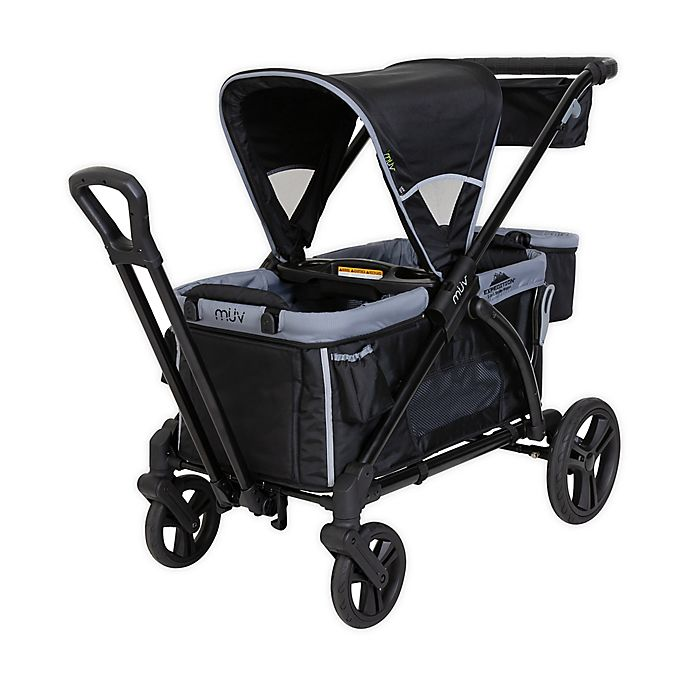 Alternate image 1 for Baby Trend® Muv® Expedition® 2-in-1 Double Stroller Wagon PRO in Black
