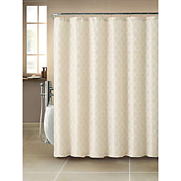 VCNY Home 72-Inch x 72-Inch Darien Jacquard Shower Curtain in Ivory