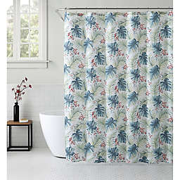 VCNY Home 72-Inch x 72-Inch Key West Tropical Shower Curtain in Blue/Green