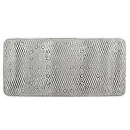 "Splash Home 17"" x 36"" Cushioned Tub Mat in Light Grey"