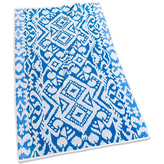 Alternate image 1 for Echo Design™ Malia Jacquard Beach Towel in Blue