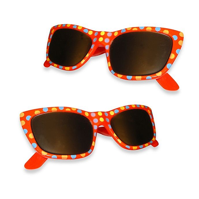 Alternate image 1 for Sunglasses Boca Clips® in Red Dot (Set of 2)