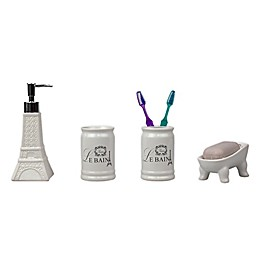 Eiffel Tower 4-Piece Ceramic Bath Ensemble Set
