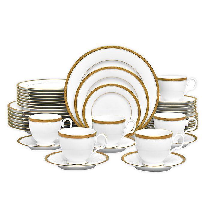Charlotta Gold 60 Piece Dinnerware Set