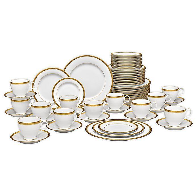Stavely Gold 60 Piece Dinnerware Set