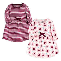 Touched by Nature 2-Pack Long Sleeve Organic Cotton Dresses