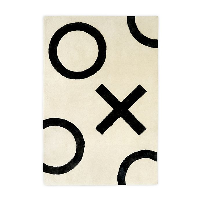 Alternate image 1 for Nico & Yeye XO 4' x 6' Hand Loomed Area Rug in White/Black