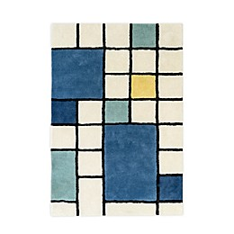 Nico & Yeye Mid-Cen Grid 4' x 6' Hand Loomed Area Rug in White