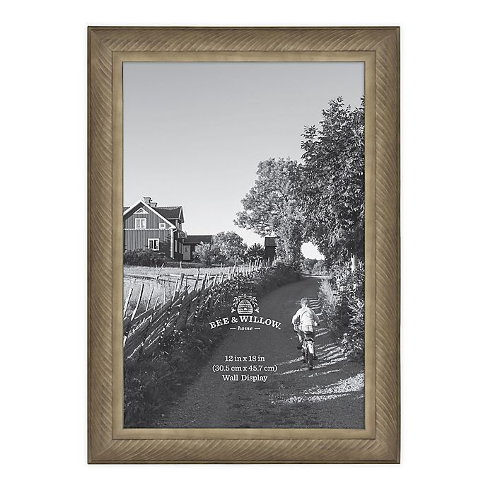 Alternate image 1 for Bee & Willow™ Home 12-Inch x 18-Inch Wooden Picture Frame in Light Chocolate