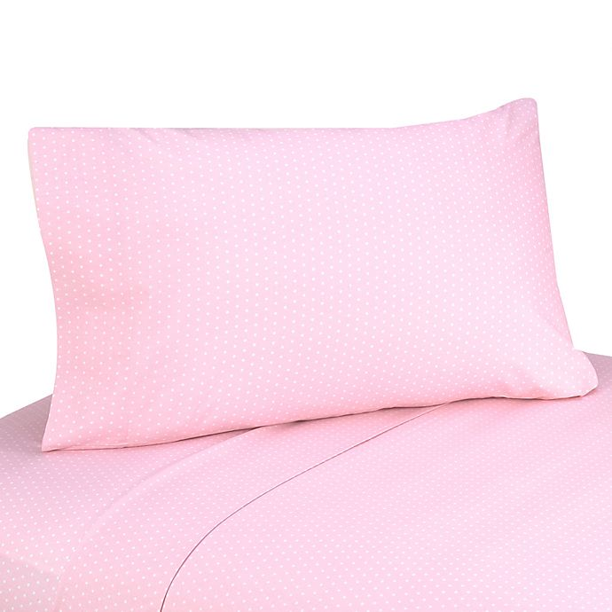 Alternate image 1 for Sweet Jojo Designs Mod Dots 3-Piece Twin Sheet Set in Pink/Chocolate