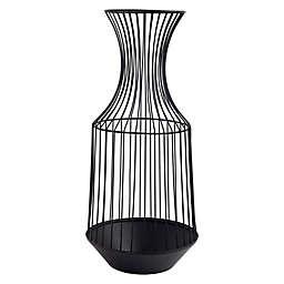 Home Essentials & Beyond Decorative Wire Vase in Black
