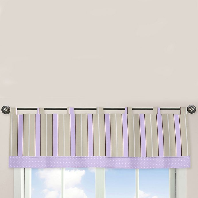 Alternate image 1 for Sweet Jojo Designs Mod Dots Window Valance in Purple/Chocolate