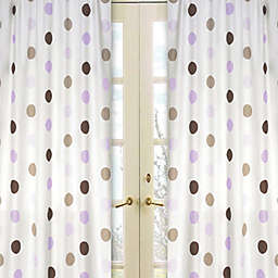 Sweet Jojo Designs Mod Dots Window Panel Pair in Purple/Chocolate
