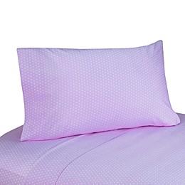 Sweet Jojo Designs Mod Dots Sheet Set in Purple/Chocolate